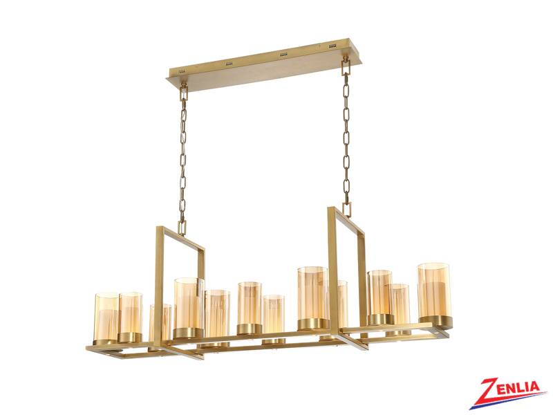 Lond Led Rectangular Chandelier