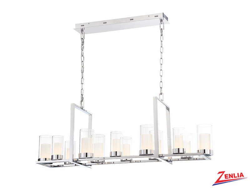 Lond Led Chrome Rectangular Chandelier