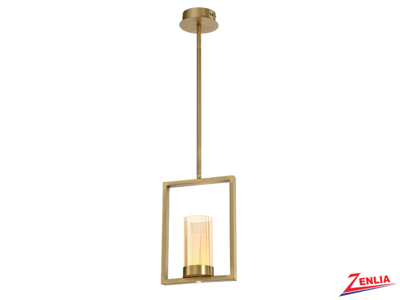 Lond Led Brass Pendant