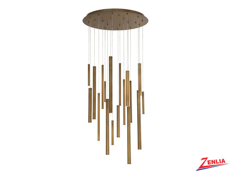 Sant 18 Light Led Brass Chandelier