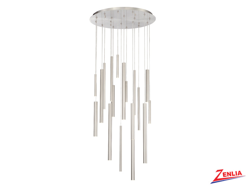 Sant 18 Light Led Satin Nickel Chandelier