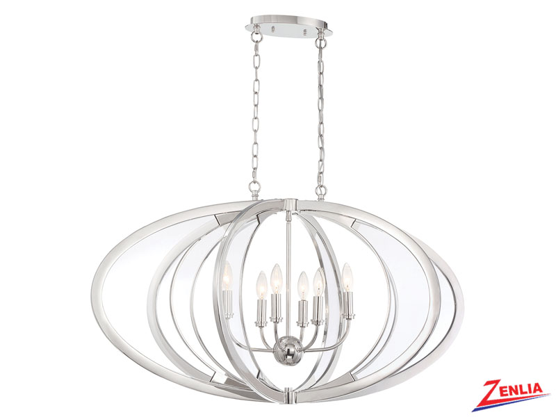 Amher 6 Light Oval Chandelier
