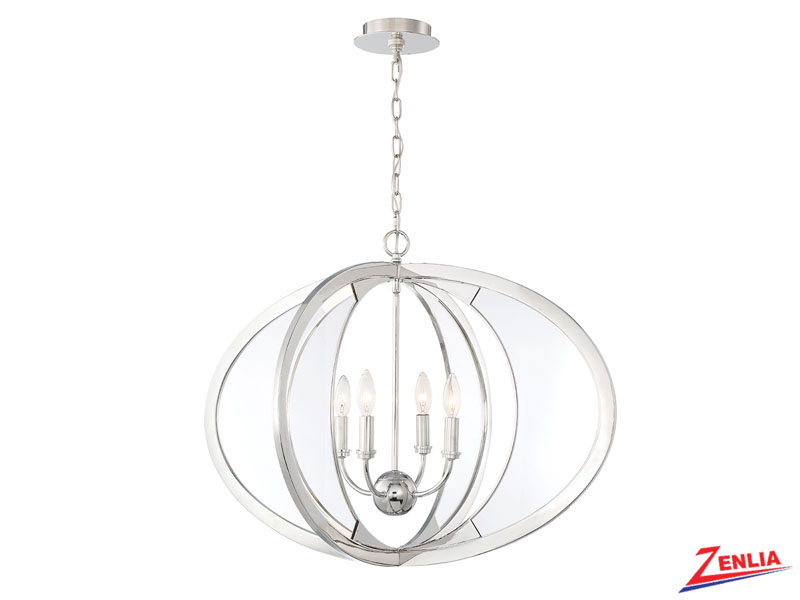 Amher 4 Light Oval Chandelier