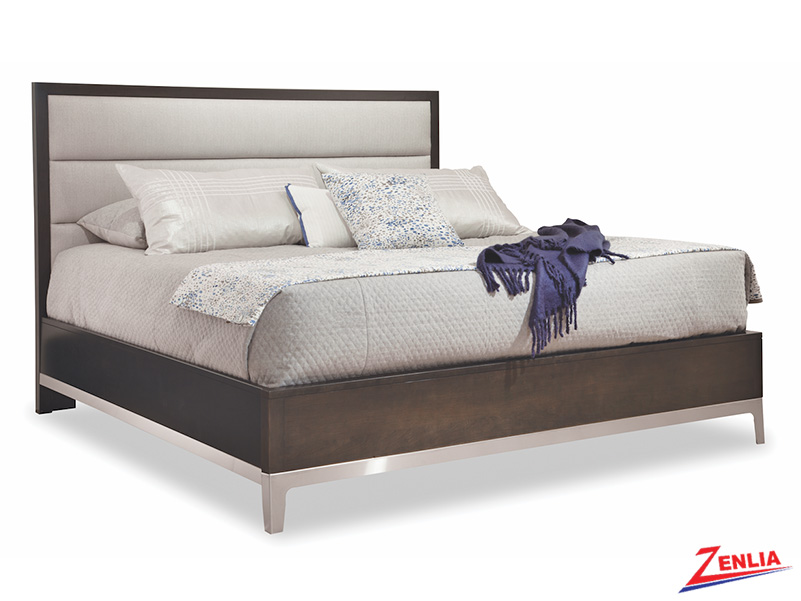 Defined Upholstered Bed With Metal Base