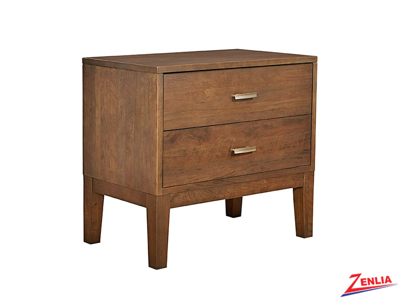 Defined Two Drawers Night Stand Wood Base