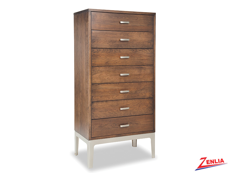 Defined 7 Drawers Chest With Metal Base