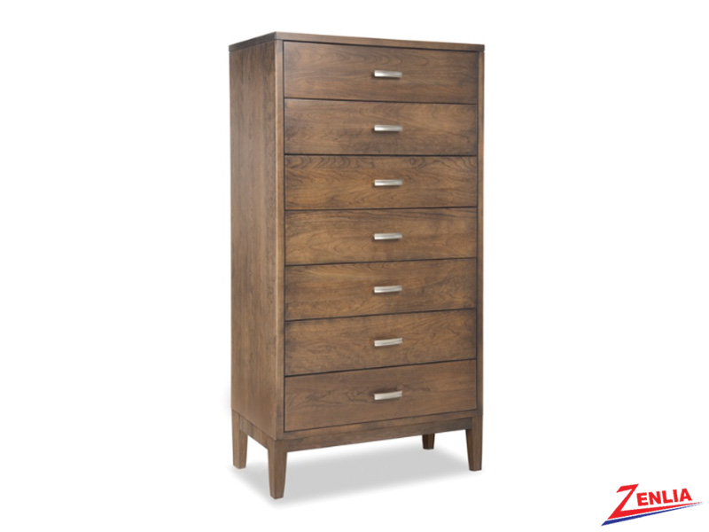 Defined 7 Drawers Chest With Wood Base