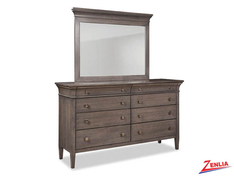 Promin Eight Drawer Dresser With Mirror