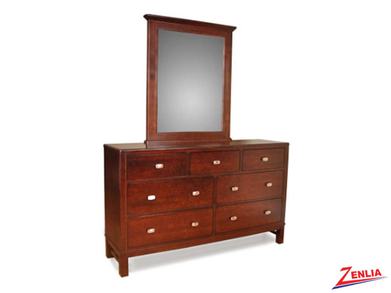 West 7 Drawers Dresser & Mirror