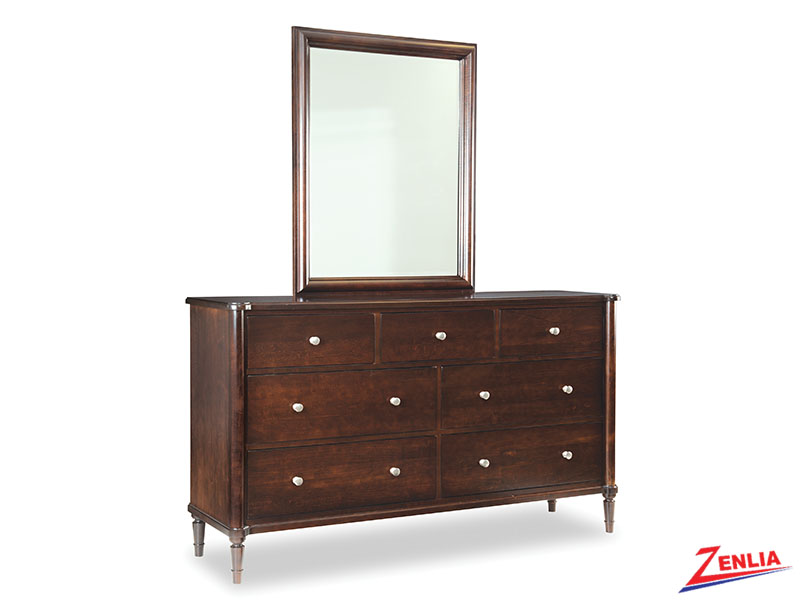 High Seven Drawers Dresser And Mirror