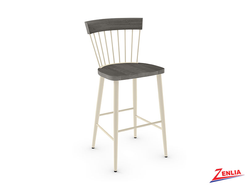 Style 40-227 Non Swivel Metal Wood Stool