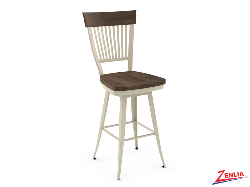 Style 41-419 Distressed Wood Swivel Stool