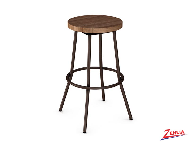 Style 42-565 Distressed Wood Swivel Stool