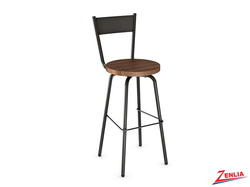 Style 40-487 Distressed Wood Swivel Stool