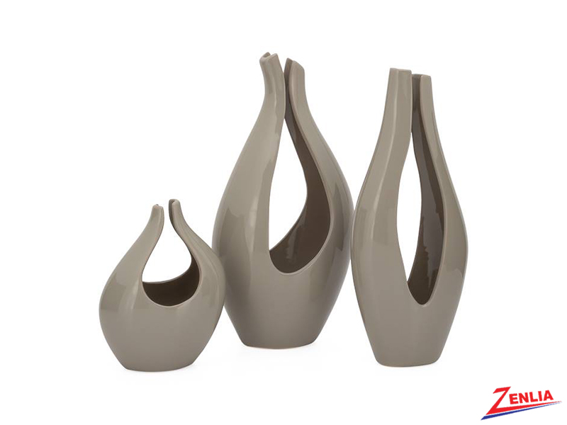 Kir Warm Grey Slim Vase