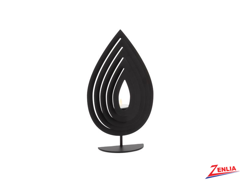 Small Black Metal Flame Tealight Holder