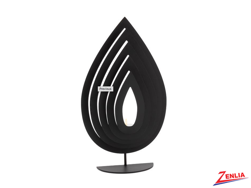 Black Metal Flame Tealight Holder