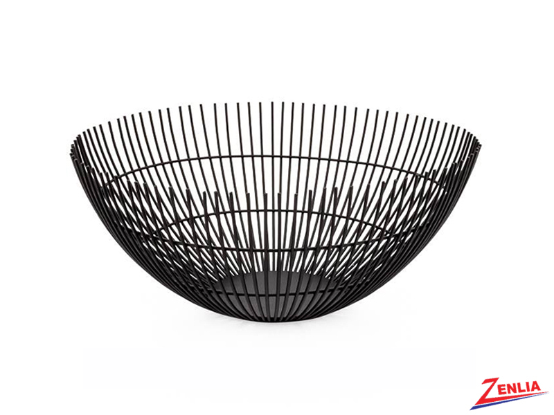 Black Rib Metal Bowl