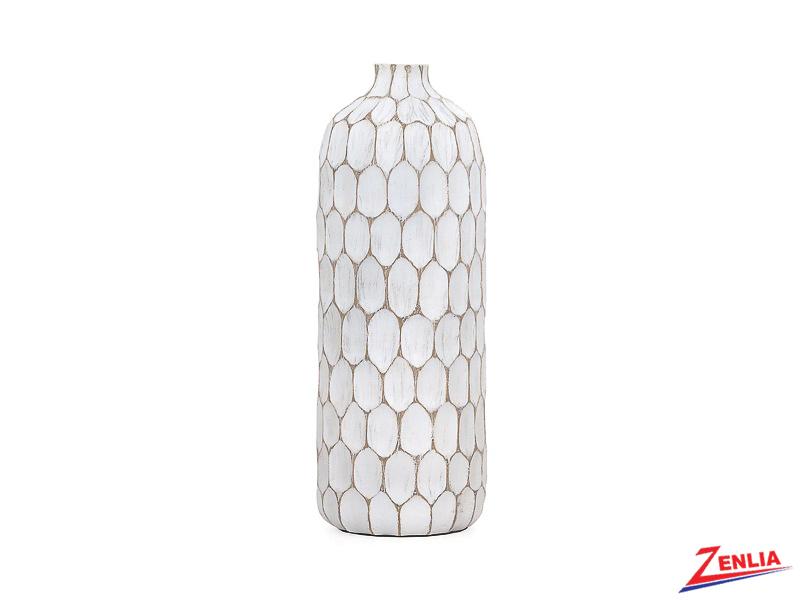 Carved Divot Tall Vase