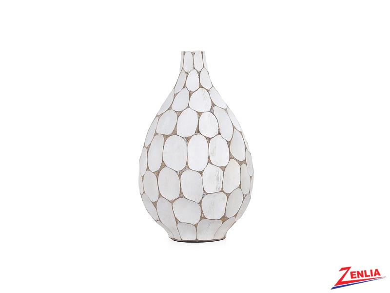 Carved Divot Teardrop Vase