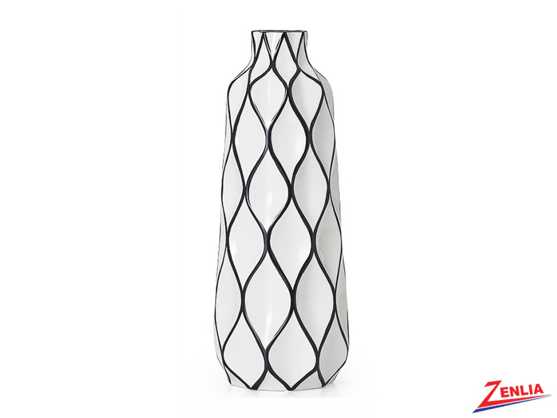 Abstra Lattice Ceramic Vase