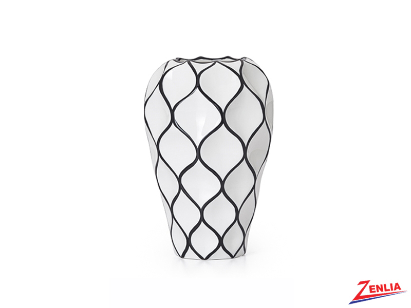 Abstra White Lattice Ceramic Vase