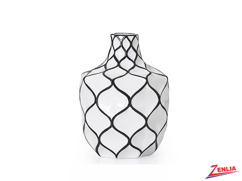 Abstra Small Lattice Ceramic Vase