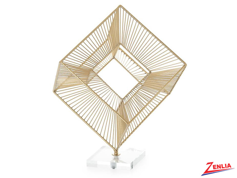 3d Radiant Cube Decor Sculpture