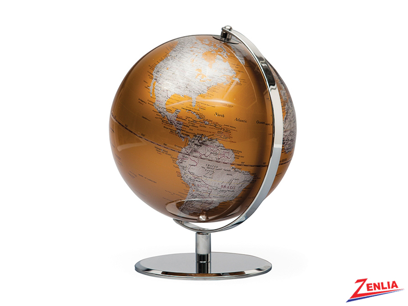 Gold Latitude World Globe
