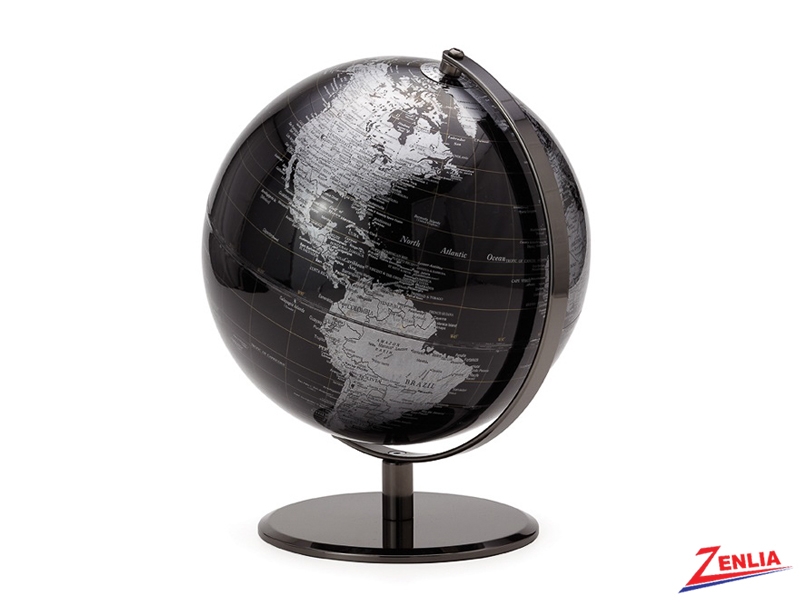 Black Latitude World Globe