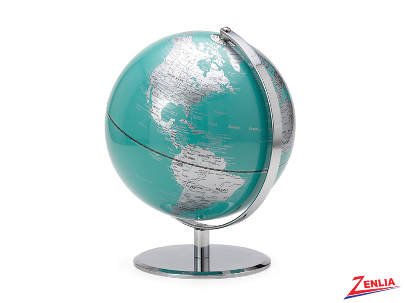 Teal Latitude World Globe