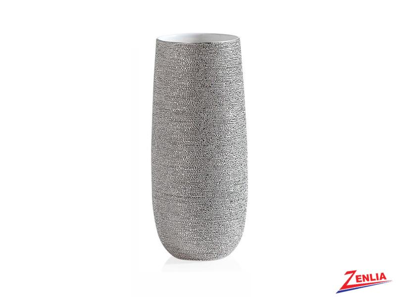 Brav Silver Spun Textured Short Vase