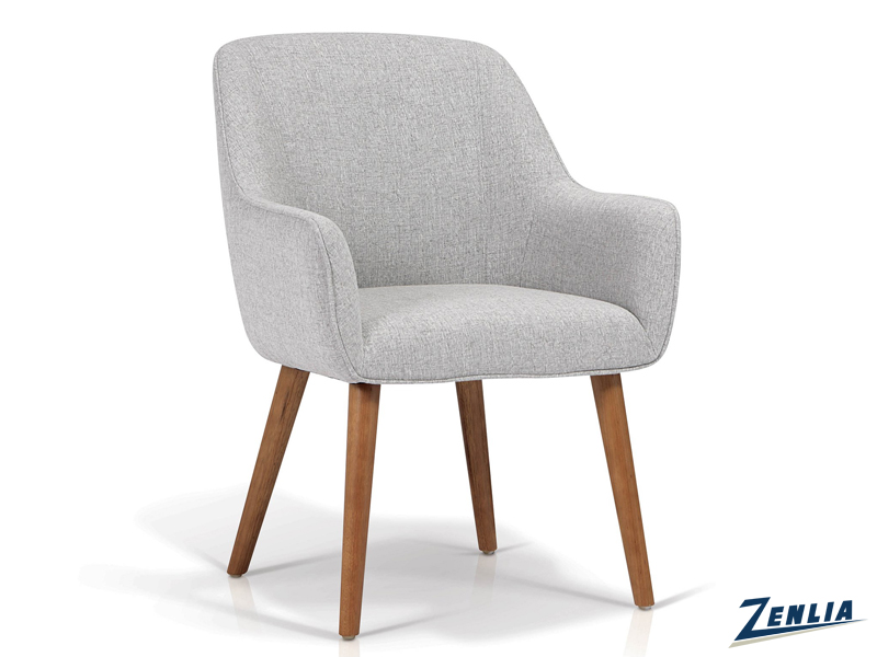 Raz Walnut Leg Tub Chair