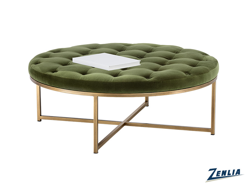 Enda Green Round Coffee Table / Ottoman
