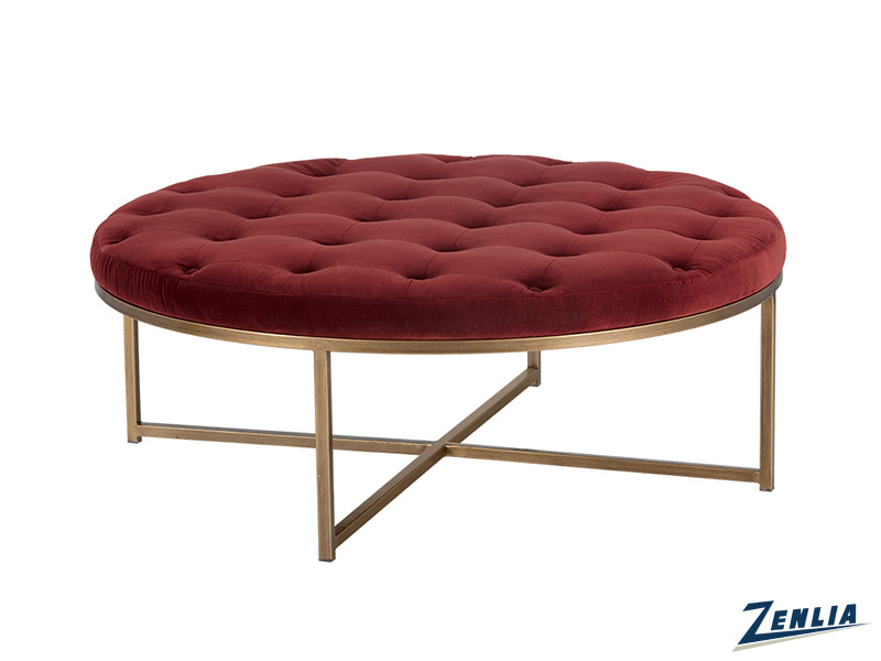 Enda Merlo Round Coffee Table / Ottoman