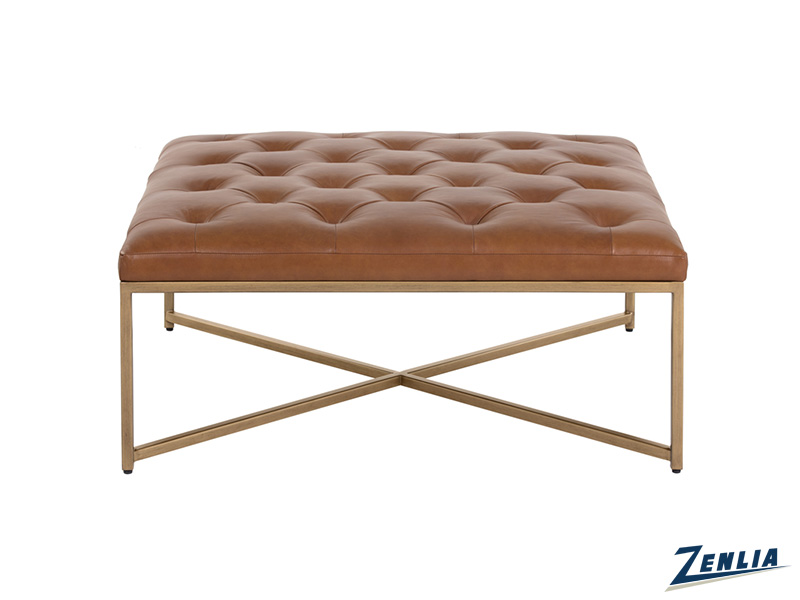 Enda Vintage Camel Coffee Table / Ottoman