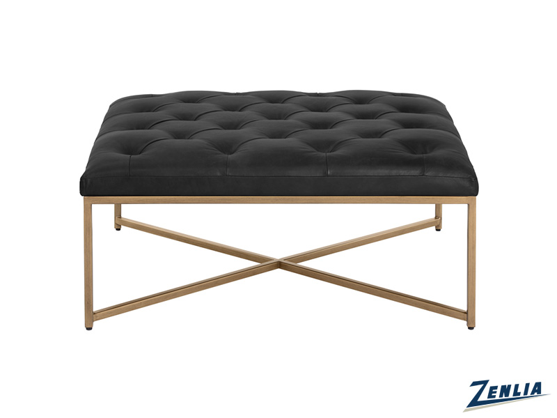 Enda Vintage Black Coffee Table / Ottoman