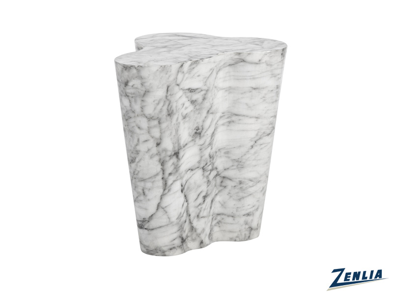 Va Large End Table In Marble Look