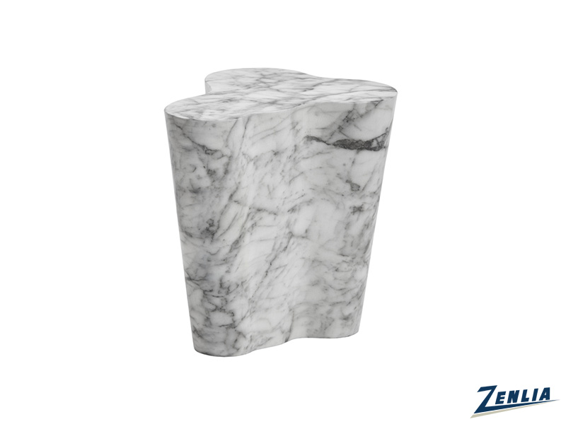 Va Small End Table In Marble Look