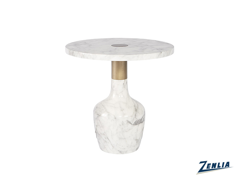 Kan End Table With Marble Like Look