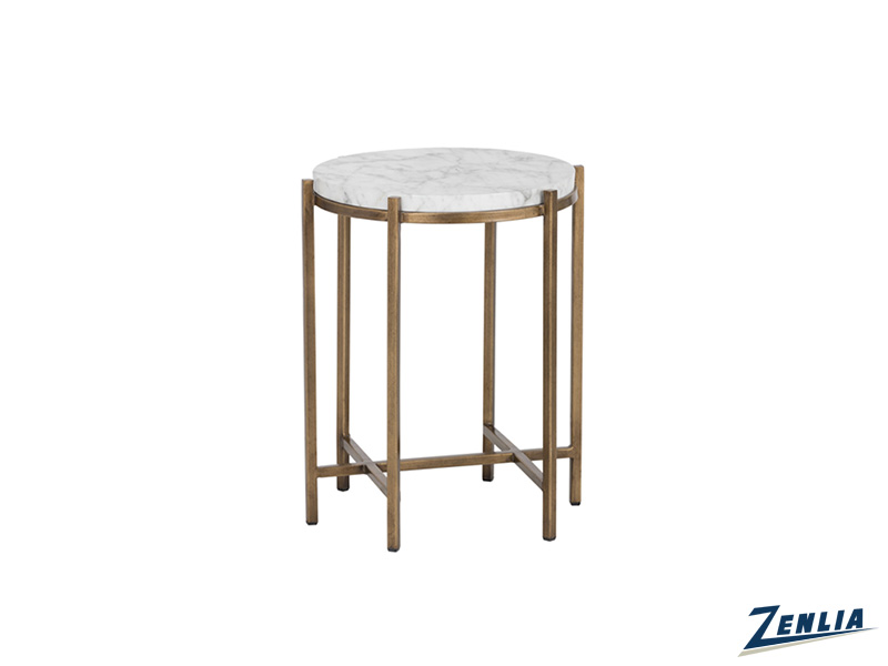 Sola End Table With Marble Look