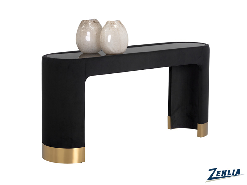Kat Black Console Table
