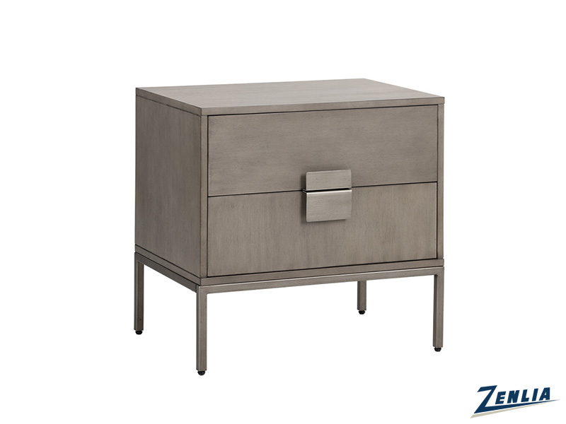 Jad Grey Nightstand