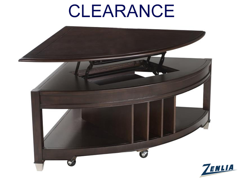 Dari Pie Shaped Lift Top Coffee Table On Clearance