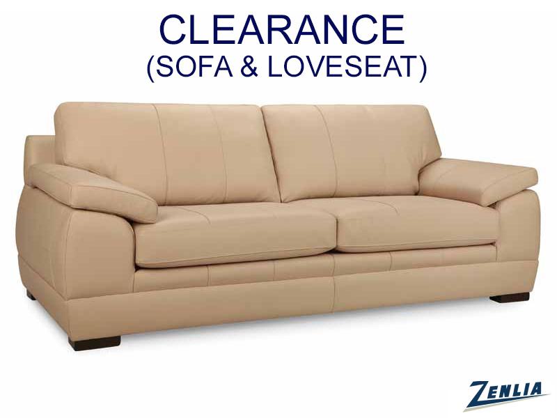 L761 Full Grain Leather Sofa And Loveseat