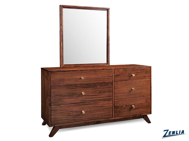 Tribe 6 Drawer Dresser With Mirror