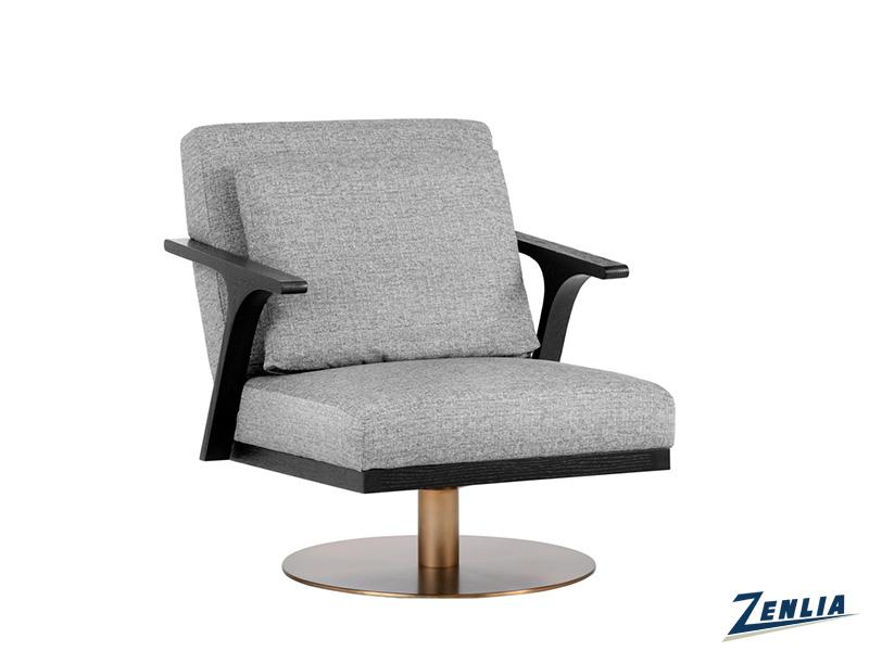 Alis Swivel Chair In Milestone Grey