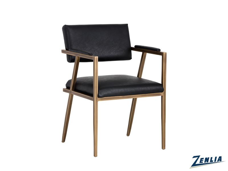 Vent Armchair In Vintage Black