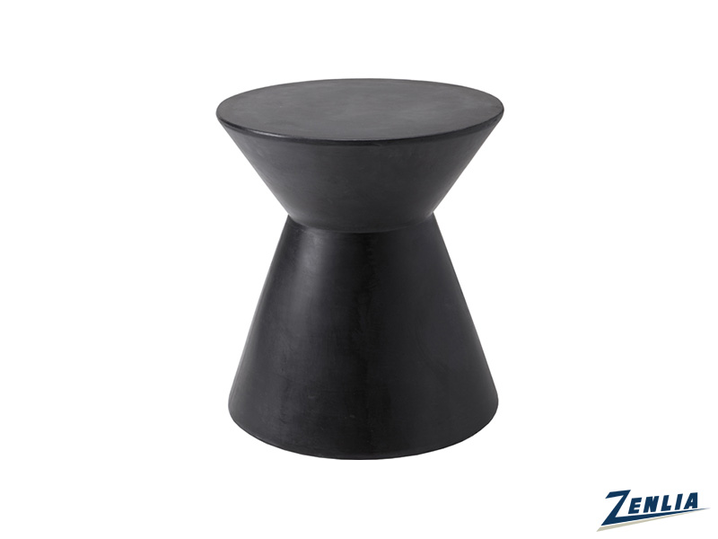 Log Black End Table