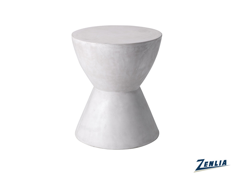 log-white-end-table-image